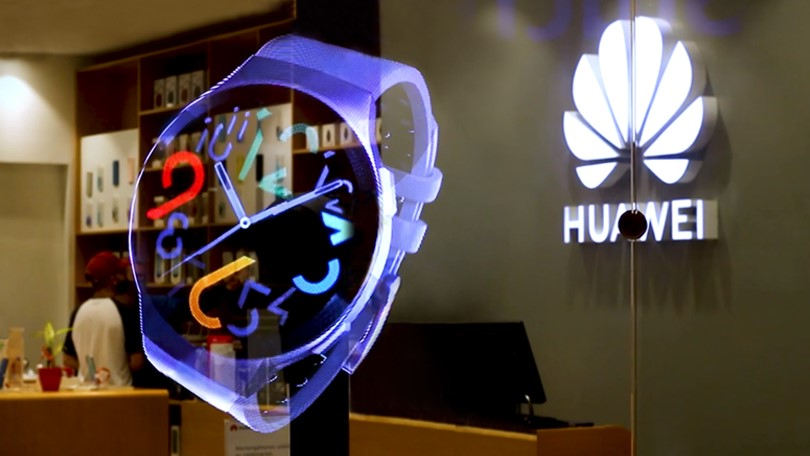 Huawei Promotes New Products with 3D Holograms