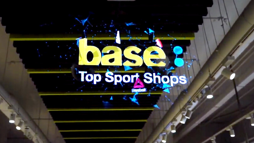 HYPERVSN installation at Base Sports Shop in Spain
