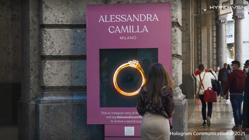Alessandra Camilla Milano Promotes Jewelry With Holograms