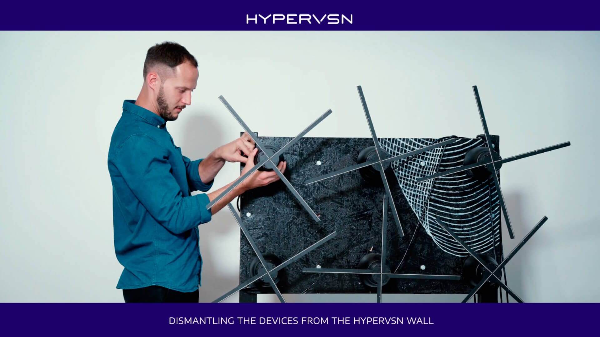 Dismantling devices from the HYPERVSN wall