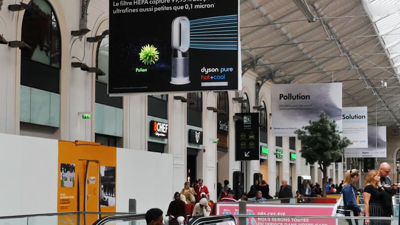 Dyson fan blows the competition away with HYPERVSN holographic advertising