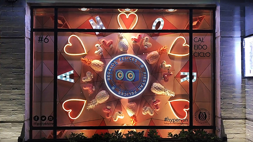 Gato Store tries out Hypervsn™ for a magical window display