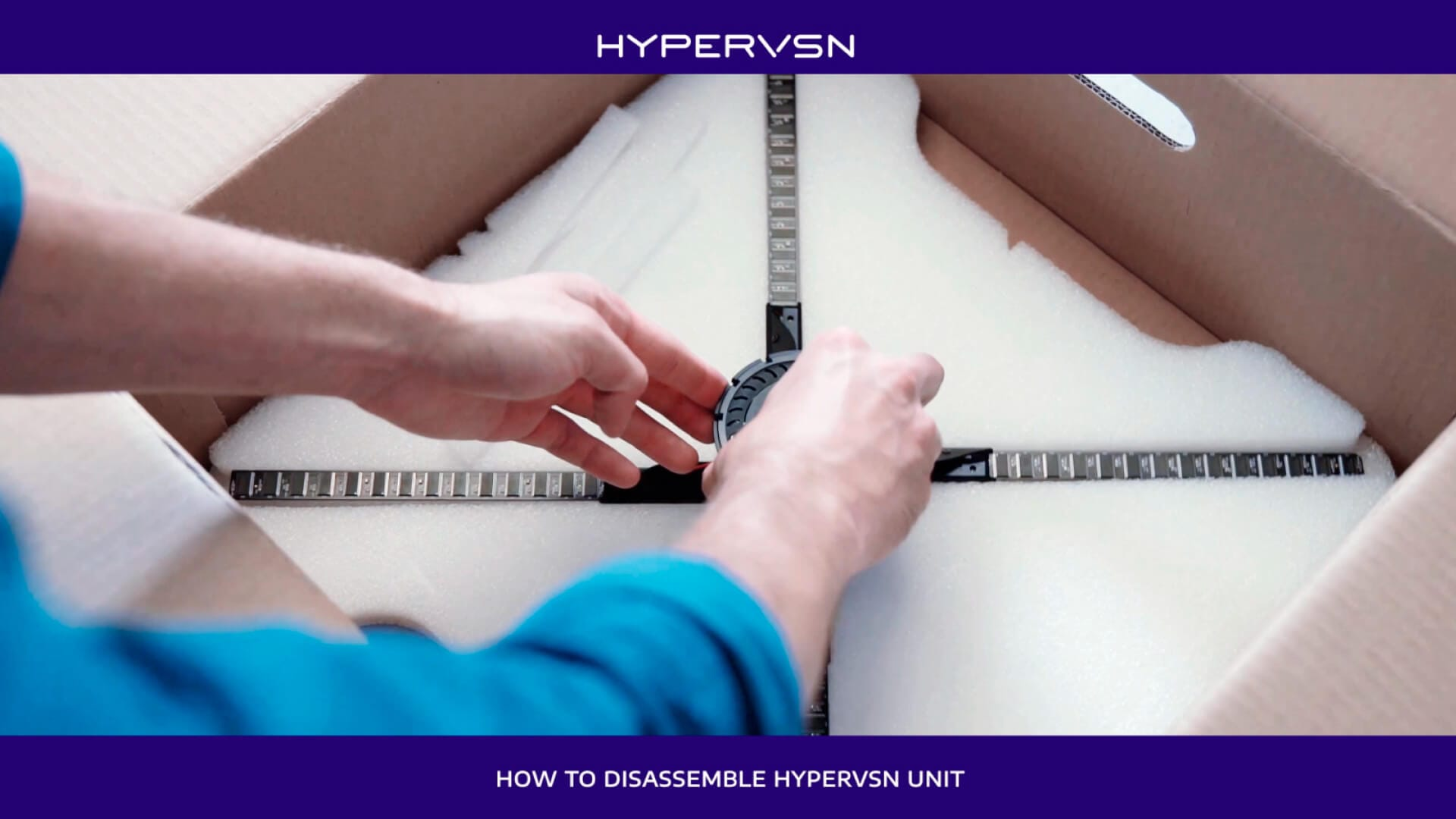 How to disassemble HYPERVSN unit