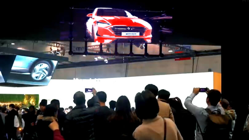 HYPERVSN holographic Wall for Hyundai