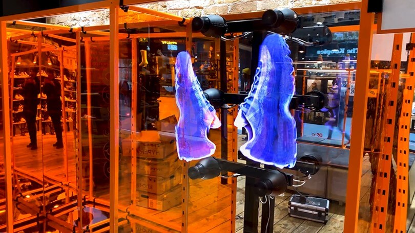 3D Holographic Display for Nike's London Store