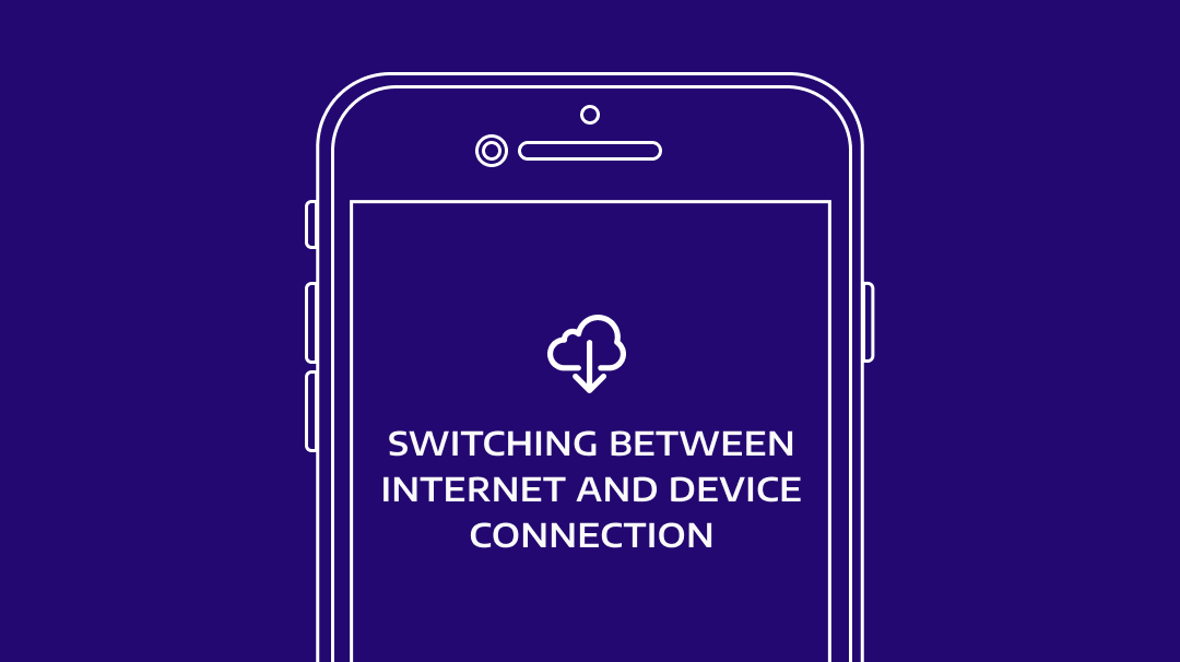 HYPERVSN Solo App: Switching between Internet and Device connection