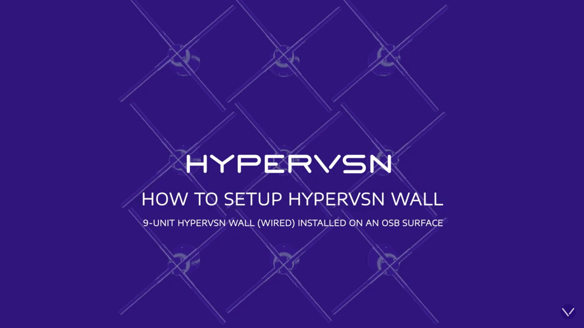 How to Setup HYPERVSN Wall
