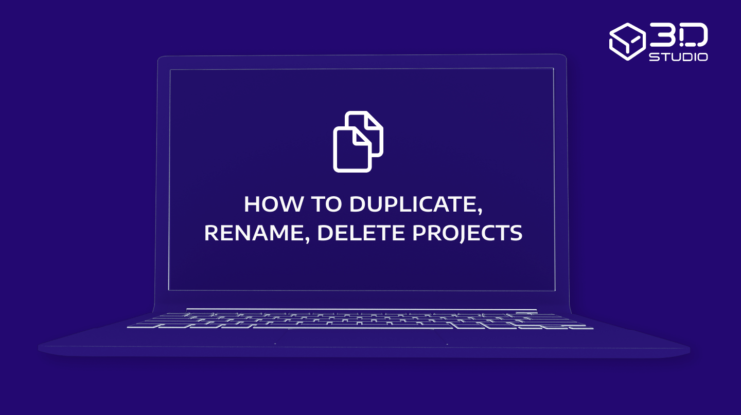 How to duplicate, rename, delete projects